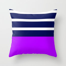 Summer Patio Perfect, Purple, White & Navy Throw Pillow