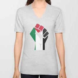 Freedom Palestine Free Gaza Middle East Unisex V-Neck