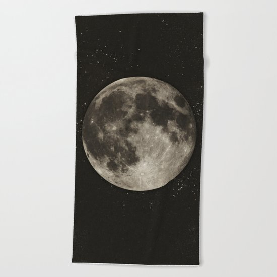 The Moon  [Sans Type] Beach Towel