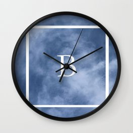 B in the clouds Wall Clock