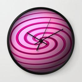 Raspberry Swirls Sphere Wall Clock