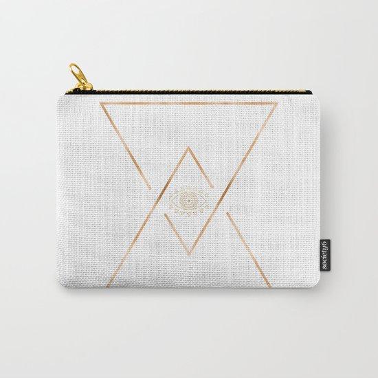 Mandala Gold Geometric Eye Carry-All Pouch
