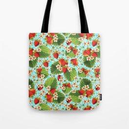 Botanical Strawberries Tote Bag