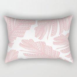Blush Boho Banana Leaves #1 #tropical #decor #art #society6 Rectangular Pillow