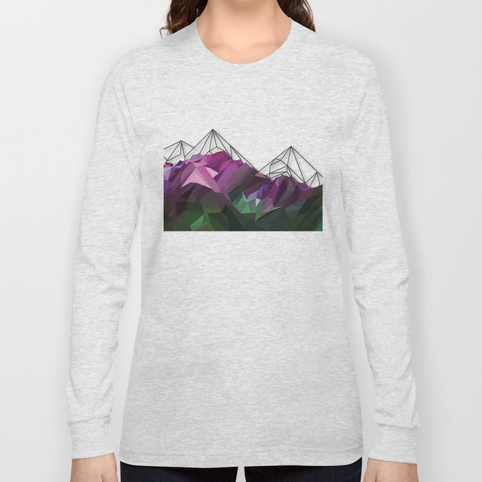 Crystal Mountains Long Sleeve T-shirt