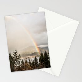 Rainbow In The Mountains | Lake In Norway Photo Art Print  | Nature Landscape Travel Photography Stationery Cards