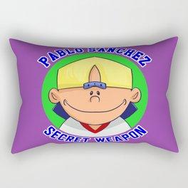 Pablo Sanchez: Secret Weapon Rectangular Pillow