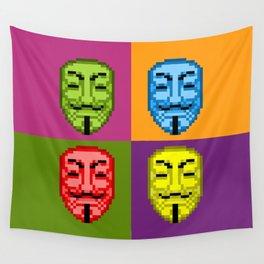 Pop Art Pixel Fawkes Wall Tapestry