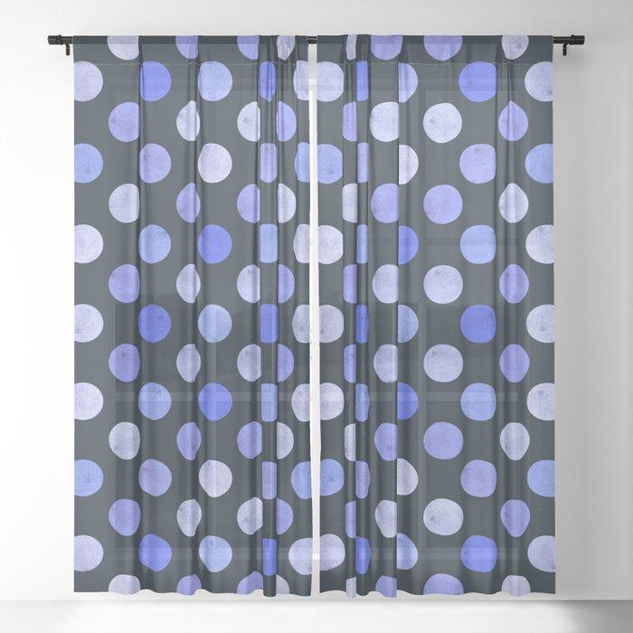 Watercolor Dots Pattern X Sheer Curtain