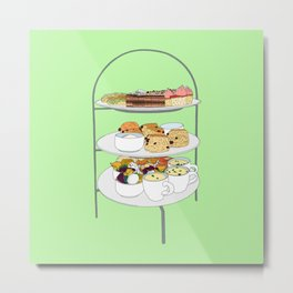 English Afternoon Tea Cakes Metal Print