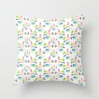 camping Throw Pillows featuring Camping by Whimsy Milieu