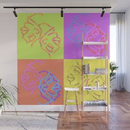 Abstract Worm girls Wall Mural