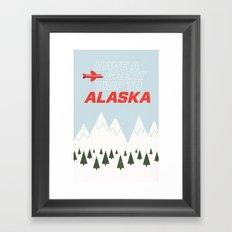 Alaska Trip Framed Art Print