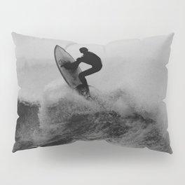 Surf black white Pillow Sham