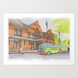 Bus Station Art Print