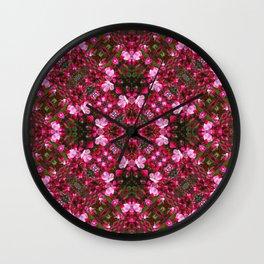 Spring blossoms kaleidoscope - Strawberry Parfait Crabapple Wall Clock