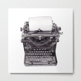 Vintage Remington Standard Typewriter Metal Print