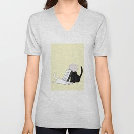 Your Yellow Quirky Cats  Unisex V-Neck