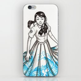 Elemental Schoolgirls  -  Waves iPhone Skin