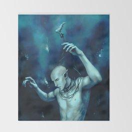 Drown in his sleep Throw Blanket
