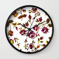 rose gold Wall Clocks featuring Rose Gold by Stevyn Llewellyn