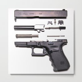Anatomy Of A Gun Metal Print