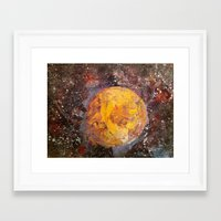 lunar Framed Art Prints featuring Lunar  by Evan Hawley