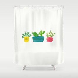 House Plants Shower Curtain