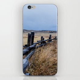 Wyoming Wooden Fence Line iPhone Skin