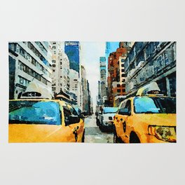 New York Taxicabs Rug
