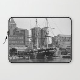 A US Frigate Ship in Baltimore, MD Laptop Sleeve