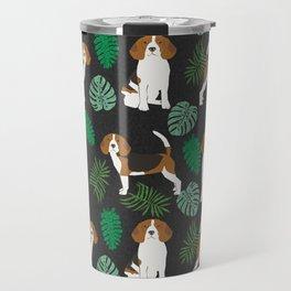 beagle tropical monstera summer dog breed gifts pure breed pets Travel Mug