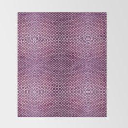 Purple Velvet Dot Pattern Art Throw Blanket