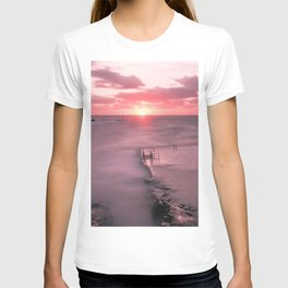 The Sea Pool Sunset, Bude, Cornwall, England, United Kingdom T-shirt