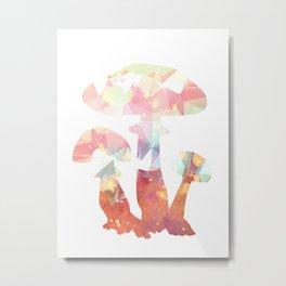Crystal mushroom art print Metal Print