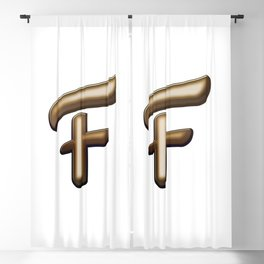 Chocolate Letter F Blackout Curtain