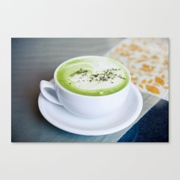 Tea Time With Matcha Canvas Print