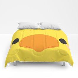 Yellow Chocobo Block Comforters