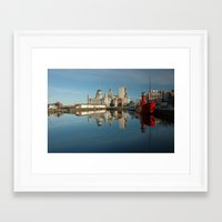 liverpool Framed Art Prints featuring Liverpool Luminations by Jonah Anderson