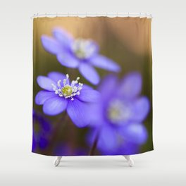 Happy Together Blue Anemones In Forest #decor #Society6 Shower Curtain