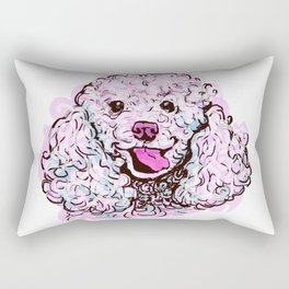 The happy Poodle Love of My Life Rectangular Pillow