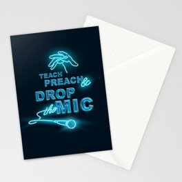 Teach Preach & Drop the Mic Stationery Cards