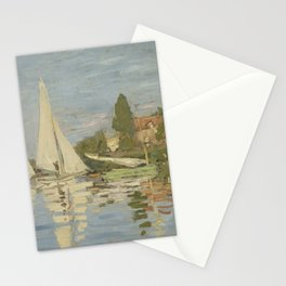 Regattas at Argenteuil Stationery Cards
