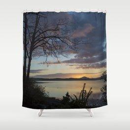 Lake Quinault Sunset, Washington Shower Curtain