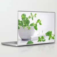 melissa smith Laptop & iPad Skins featuring Melissa officinalis by Tanja Riedel