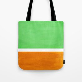 Pastel Mint Green Yellow Ochre Rothko Minimalist Mid Century Abstract Color Field Squares Tote Bag