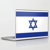 israel Laptop & iPad Skins featuring israel country flag david star by tony tudor