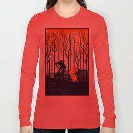 retro mountain bike poster, Life behind bars Long Sleeve T-shirt
