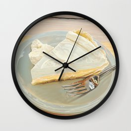 Lime Custard Pie from Lucy's Fried Chicken in Austin, Texas Wall Clock