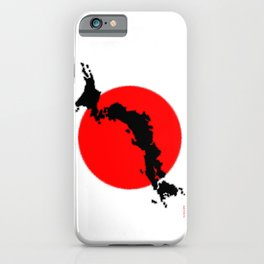 Japan Map with Japanese Flag iPhone Case